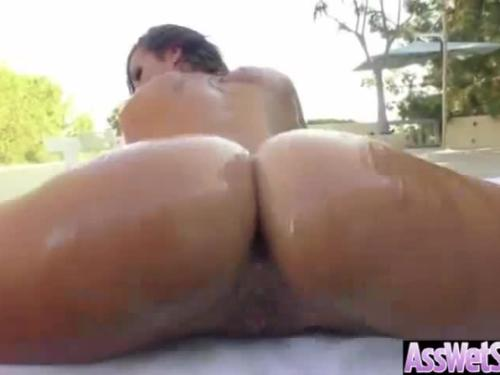 Anal hardcore sex with big ass oiled all over sexy girl (kelsi monroe) clip-18