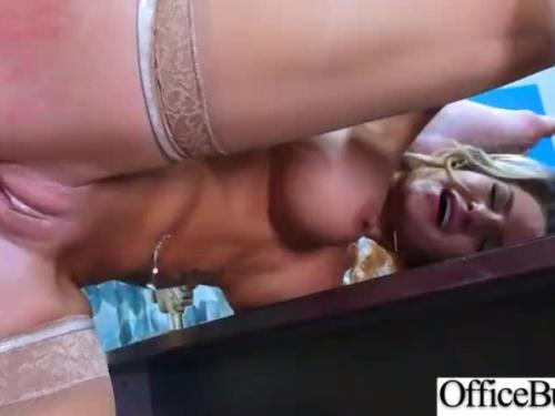(cali carter) busty woman in tough fashion sex at office clip-12