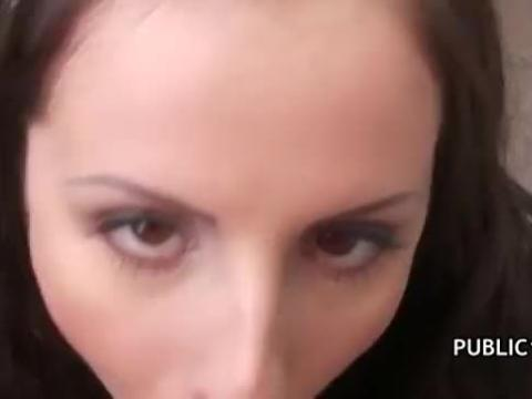 Shy czech woman agrees to take money for a suck & fuck